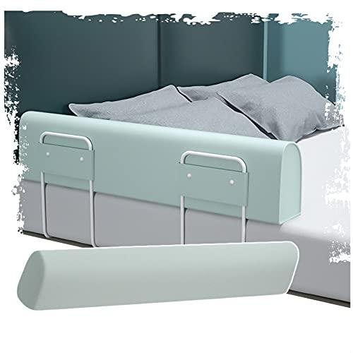 LIQICAI Protector Cama barandilla, rieles de Cama de Tela de algodón Lavable para niños pequeños, niños y Adultos, Usar en combinación, 3 Colores, 7 tamaños (Color : Green, Size : (1m+1.8m))
