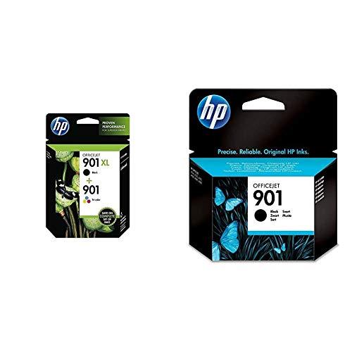 HP 901XL e 901 SD519AE Confezione da 2 Cartucce Originali per Stampanti, Compatibili con Officejet All-in-One 4500, J4580 e J4680 & 901 CC653AE Cartuccia Originale da 200 Pagine