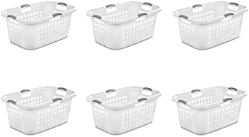 6-Pack Sterilite 12168006 2 Bushel 71L Ultra Laundry Basket w/Handles