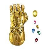 Guantelete del infinitom, Guante Thanos War Infinity Gems con 6 Piedras LED extraíbles, Diseño de imán, 3 Modos de Flash, Accesorios de Fiesta de Cosplay de Bar,Adults