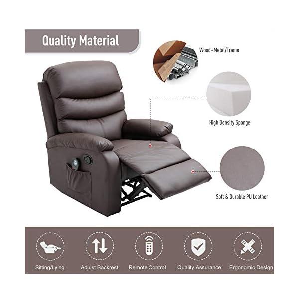 Material Manual Massage Recliner