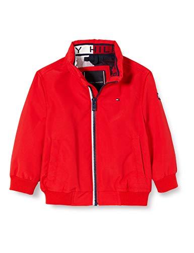 Tommy Hilfiger Essential Jacket Chaqueta, Rojo (Red Xa9), Talla única (Talla del Fabricante: 86) para Niños