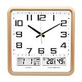 Reloj de pared simple Reloj de pared creativo de la plaza del reloj de pared del LED Digital Tiempo Temperatura silencio Muestra multifunción Función Reloj luz de la noche Hall, sala de exposiciones