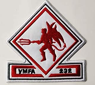VMFA-232 Military Patch Fabric Embroidered Badges Patch Tactical Stickers for Clothes with Hook & Loop