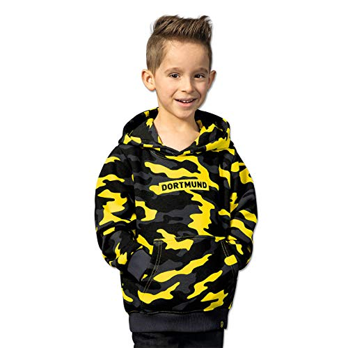 Borussia Dortmund BVB-Box-Logo-Hoodie Kinder camogelb (140)