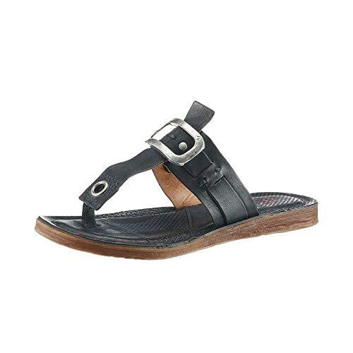 A.S.98 Airstep Damen Dianette Leder Sandale Zehentrenner Schuhe Dunkelblau Schuhgröße EUR 36