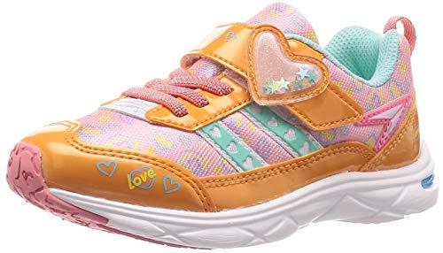 [シュンソク] スニーカー 運動靴 軽量 15~23cm 1E キッズ 女の子 LEC 6430 オレンジ 20.5 cm E