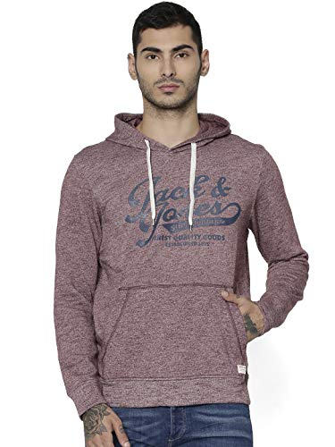 Jack & Jones Jjepanther Sweat Hood Noos Sudadera, Rojo (Port RoyalePort Royale), Medium para Hombre