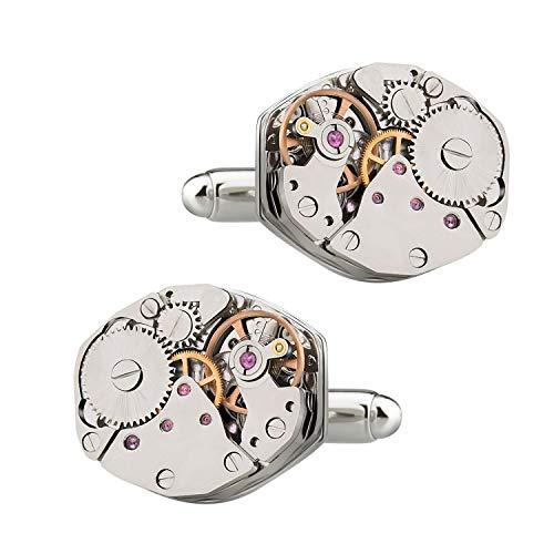 MERIT OCEAN Bewegung Manschettenknöpfe Steampunk Watch Mens Shirt Vintage Watch Manschettenknöpfe Business Hochzeitsgeschenke