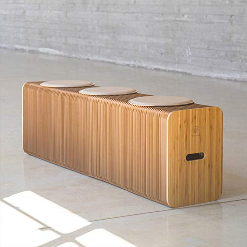 QZ-ICZYA Tragbare Grünbuch Hocker, Solid Color Einfache Art und Weise Orgel Art Umweltschutz Kreative Multifunktionale Sofa Hocker Möbel Papier Hocker,Braun