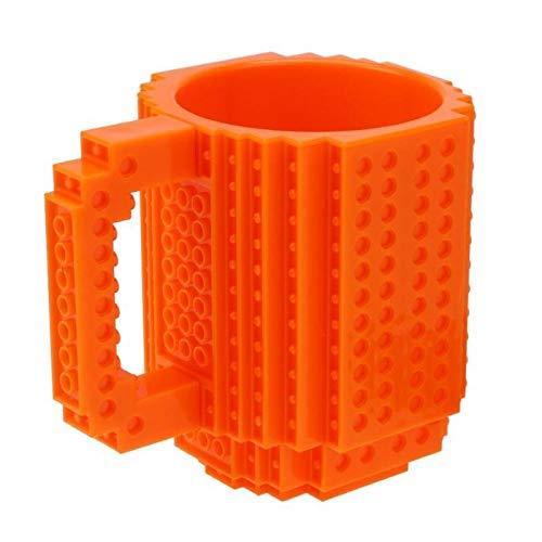 350ML De La Taza De Café Titular De La Leche Acumulación De Agua En El Ladrillo Tipo De La Taza Tazas De Agua For El Lego De Los Bloques Diseño Regalo (Color : C)
