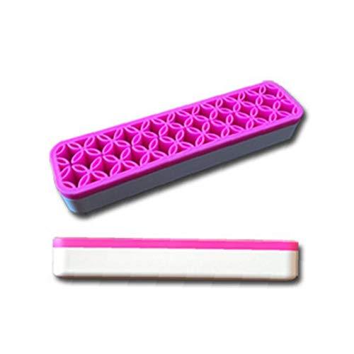 Maquillage Porte-brosses Organisateur Outils flexible cosmétiques silicone Support Organisateur cosmétiques étagère pour différentes taille du pinceau cadeau pour les femmes, Fuchsia