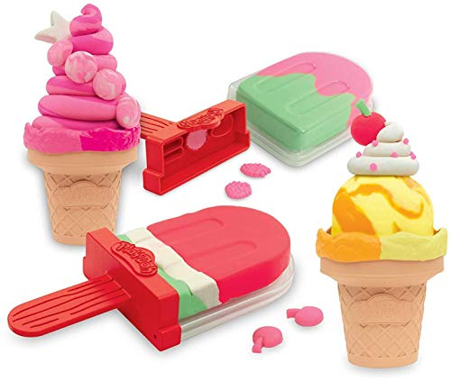 Play-Doh Ice Pops 'N Cones Freezer Themed 4 Pack of Airtight Containers Filled with 3 oz of Non-Toxic Compound