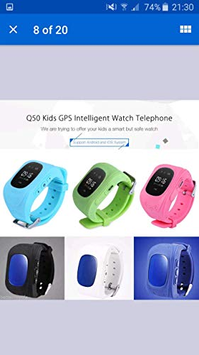 Hangang Smartwatch GPS Tracker Kids GPS Bambini Safe Smart Watch SOS Chiamata Location Finder Locator Tracker per Child Anti Lost Monitor Baby Son Wristwatch Blue