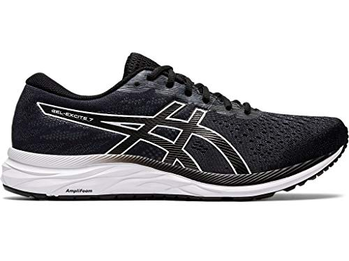 ASICS Men's Gel-Excite 7, Black/White, 10.5 Medium