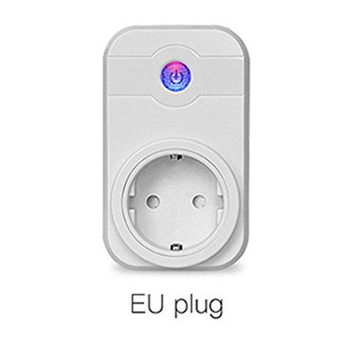 Espeedy Enchufe inteligente Wifi Aplicación de teléfono inalámbrico Función de temporización de tomacorriente con control remoto Encendido / Apagado Adaptador de enchufe para el hogar