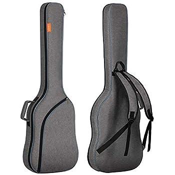 CAHAYA Electric Bass Guitar Bag Gig Bag Backpack Padded Soft Case 0.3inch Padding Grey
