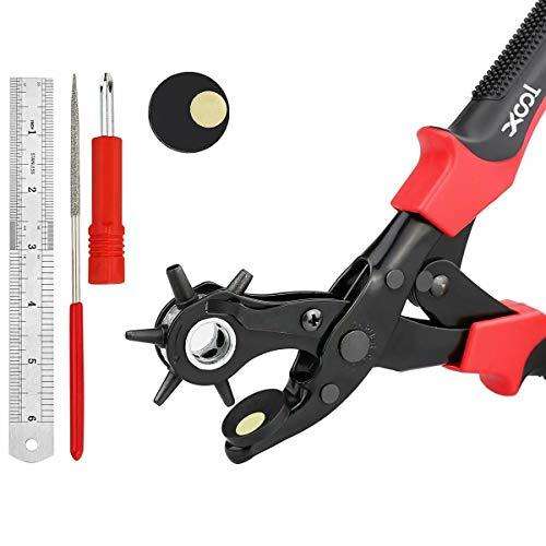 Gürtel Punch Zange verschiedenen Größen drehbar Heavy Duty Punch Zange belt-hole-puncher verwendet für Gürtel, Uhr, Gürtel, Schuhe, Taschen, Kleidung, Pappe, Papier, hart-PVC, etc.