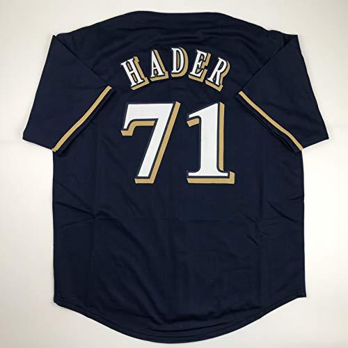 Unsigned Josh Hader Milwaukee Blue Custom Stitched Baseball Jersey Size Men's XL New No Brands/Logos