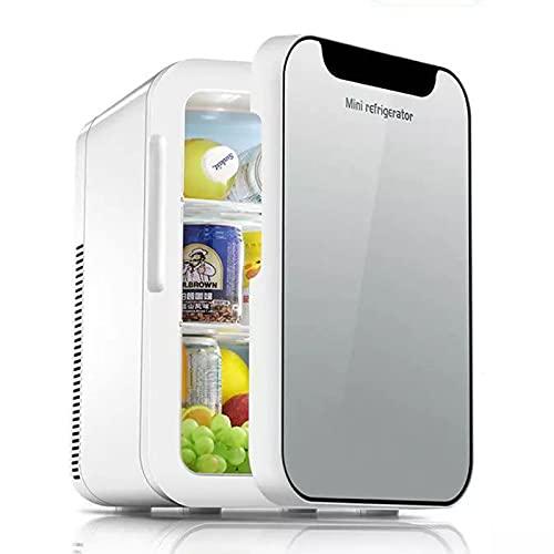 AIISHY Congelador Compacto para Nevera, Mini Nevera de Estilo Retro, Nevera pequeña con un Estante, Uso para el hogar, Oficina, Dormitorio,27x35x41cm