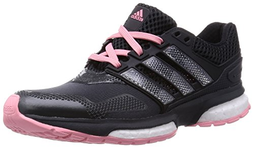 adidas Response Boost 2 Techfit W - Zapatillas de Running para Mujer, Color Gris/Negro/Rosa/Plata, Talla 41 1/3