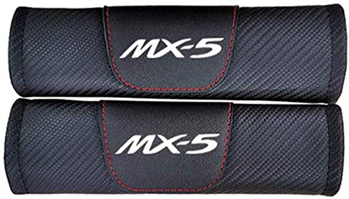 NBHUYT 2Pcs Car Seat Belt Padding Protection Covers, For Mazda Mx5, Auto Safety Shoulder Strap Cushion Cover Pads