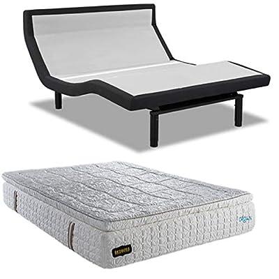 """Leggett & Platt Prodigy 3.0 PT Adjustable Bed w/Choice of BedBoss Cool Gel Memory Foam Mattress (Queen Prodigy 3.0 PT + 13"""" Crown)"""