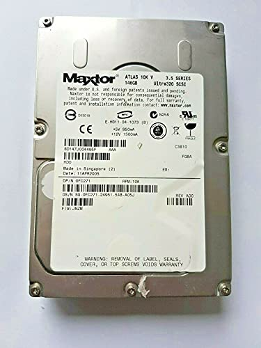 Maxtor Atlas 10K V 8D147J0 Ultra320 SCSI - Disco duro interno (146 GB, 8 MB, 3,5')