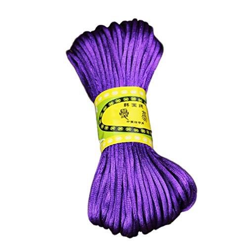 Timetided Nudo Chino de Nailon Duradero, cordón de joyería con Cuentas, Hilo de Alambre, Pulseras DIY, Collares, Uso Artesanal