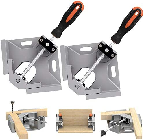 TAIWAIN Right Angle Clamp 90 Degree Positioning Holder 2PCS Woodworking Vice Miter Tool Set product image
