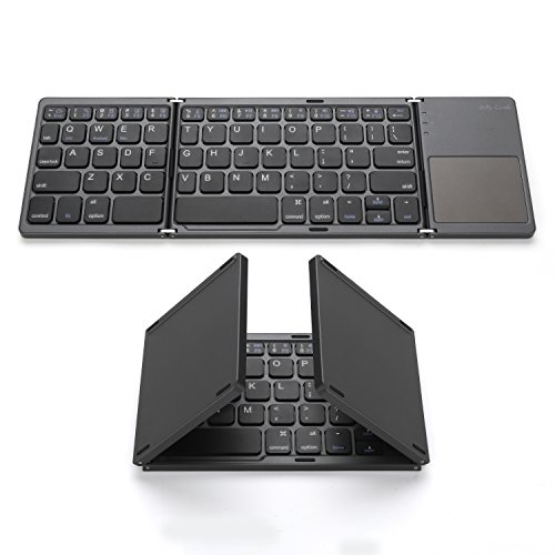 Foldable Bluetooth Keyboard, Jelly Comb Pocket Size Portable Mini BT Wireless Keyboard with Touchpad