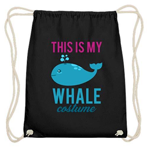 Dat ist Mein Wal Kostuum - schattig walvis motief vis zee - eenvoudig en grappig design - Katoen Gymsac
