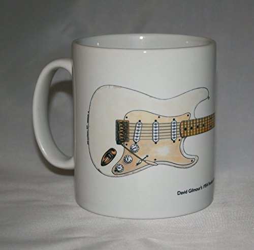 Gitarre-Krug. David Gilmour 0001 Fender Stratocaster Abbildung.