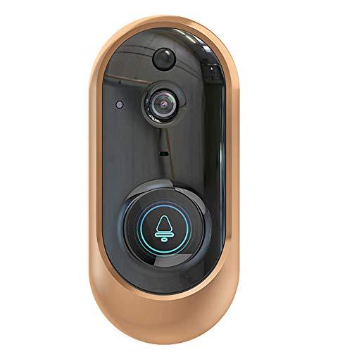LiYuJ Draadloze Video Deurbel, Deurtelefoon Intercom met Brede Hoek Camera, Nachtversie, PIR Sensor, Lange Afstand Zonder Bezorgd WiFi, Soepele Video en HD Geluid