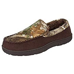 in budget affordable Realtree Men Slippers Memory Foam Camouflage Moccasins Indoor / Outdoor Camouflage Large