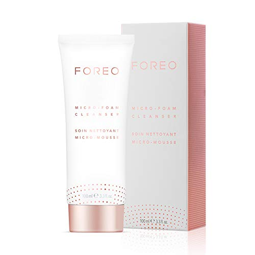 Microschiuma detergente FOREO 100ml, Detergente delicato per il viso per tutti i tipi di pelle, formula cruelty-free e vegan (100ml)