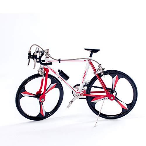 Ggoddess Metall DIY Montage Puzzle Fahrrad Modell Kit mit Aufkleber, Rennrad 3D Puzzles Mechanische Ausrüstung Spielzeug Baukasten Selbstmontage Handwerk Geschenke