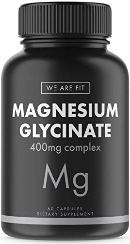 Magnesium Glycinate 400 mg Elemental Complex -100% DV High Absorption Bioavailable Supplement to Support Magnesium Levels, Muscle Relaxation, Vegan & Non-GMO, 60 Veggie Caps