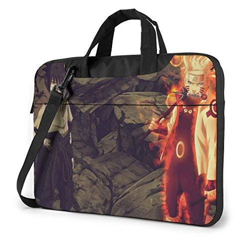 Protective Laptop Shoulder Messenger Bag, Anime Sasuke Uchiha Nar-uto Uzumaki 4th War Travel Bags Computer Carrying Case