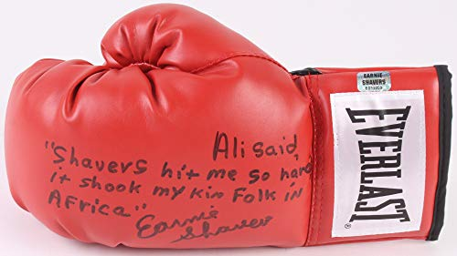 Earnie Shavers Autographed Boxing Glove With