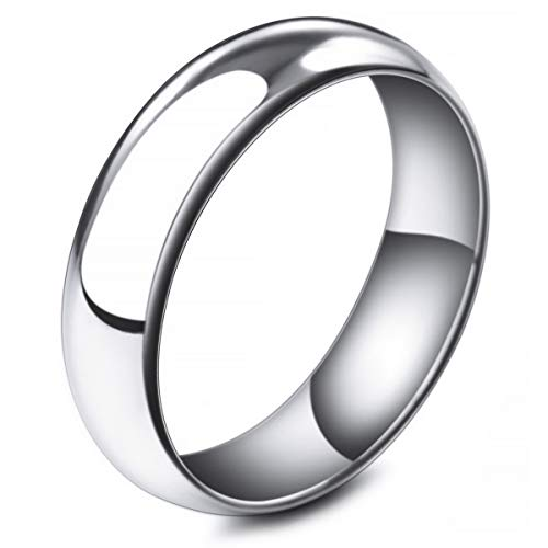 MunkiMix Ancho 6mm Acero Inoxidable Banda Venda Anillo Ring El Tono De...