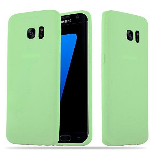 Cadorabo Hülle für Samsung Galaxy S7 Edge in Candy Pastell GRÜN - Handyhülle aus flexiblem TPU Silikon - Silikonhülle Schutzhülle Ultra Slim Soft Back Cover Case Bumper