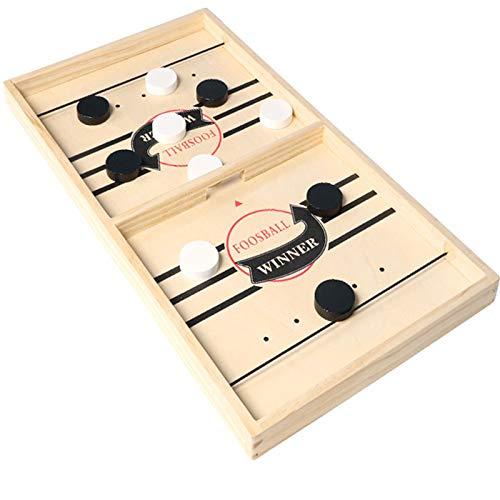 RSTJ-Sjap 2 in 1 Tisch Eishockey Spiel, Fun Puzzle Dekompression Kinderspielzeug, Two-Player Katapult-Elternkind Interaktive Tabelle Spiel Schachspielzeugbrett