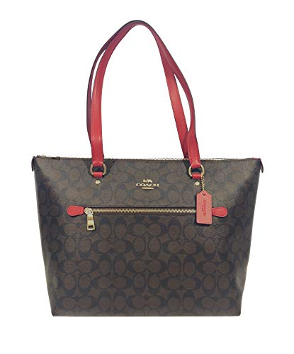 Coach Gllery Tote Shoulder Handbag (IM/Brown True Red)