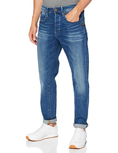 G-STAR RAW Loic Relaxed Tapered Jeans, Antic B631-b820 Oregon Blue - Bolígrafo, 32W / 32L para Hombre