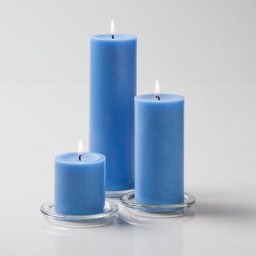 Richland Light Blue Pillar Candles Set of 3