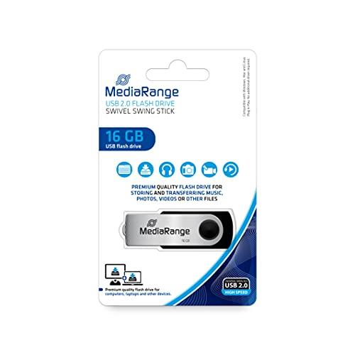 MediaRange 16GB Speicherstick silber