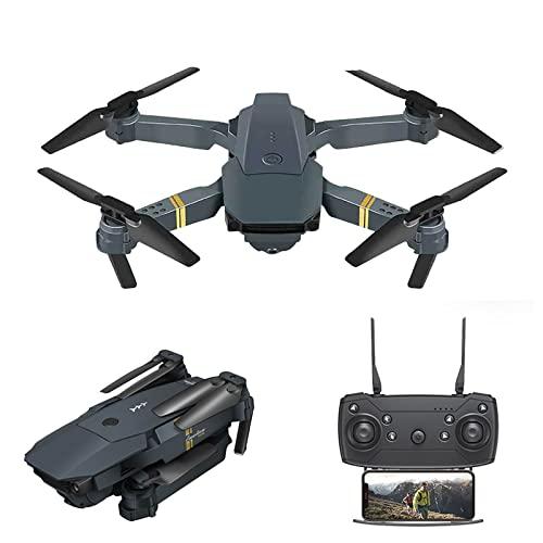 Drone 4k per adulti e bambini con fotocamera drone di alta qualit con quadricottero pieghevole-2021 nuovo aggiornamento Wifi FPV altezza principiante, controllo altezza, rotazione 3d, GPS (Nero)