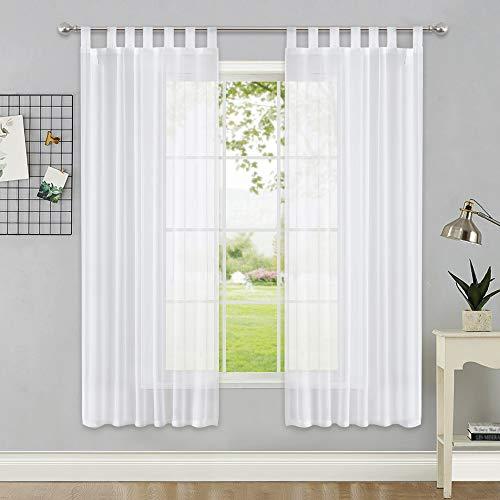 cortinas habitacion blancas algodon