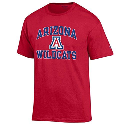 Red Heather Medium Champion NCAA Arizona Wildcats Girls Short Sleeve V-Neck T-Shirt